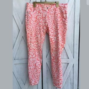 Old Navy Coral Jeans Sz 18